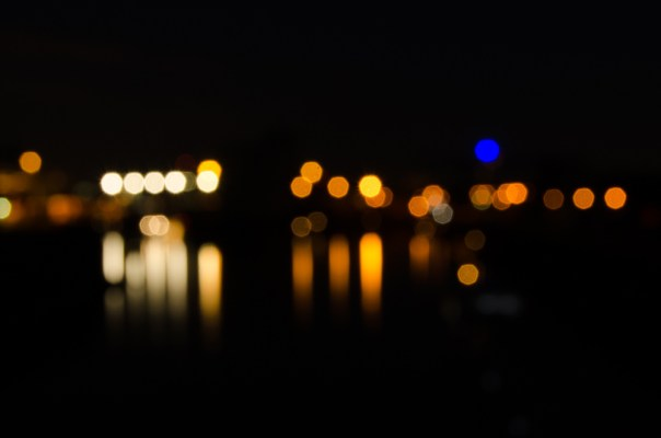 Lights at night along the Rhein