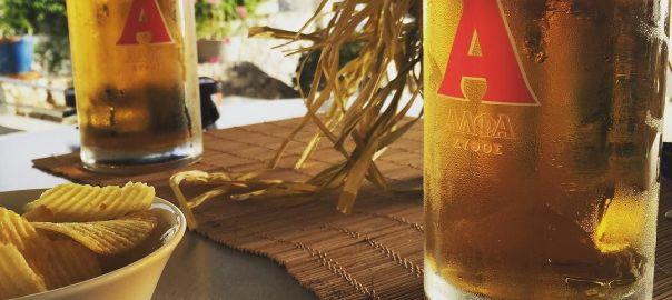 Alpha beer in Plakias