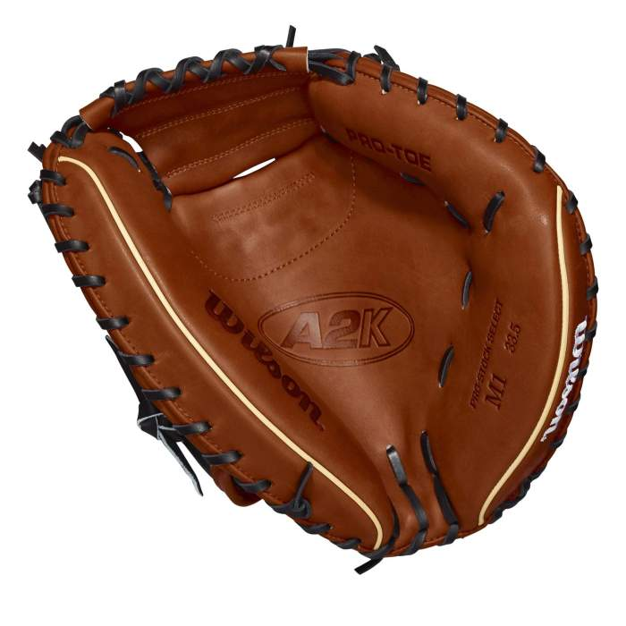 Pocket of the Wilson A2K Catchers Mitt