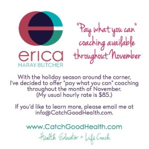 November 2013 Pay What You Can Coaching