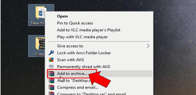 add to archive zip rar file
