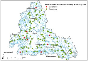 Suir Catchment WFD River Chemistry Monitoring Sites