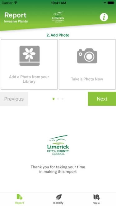 Report Invasive Species app