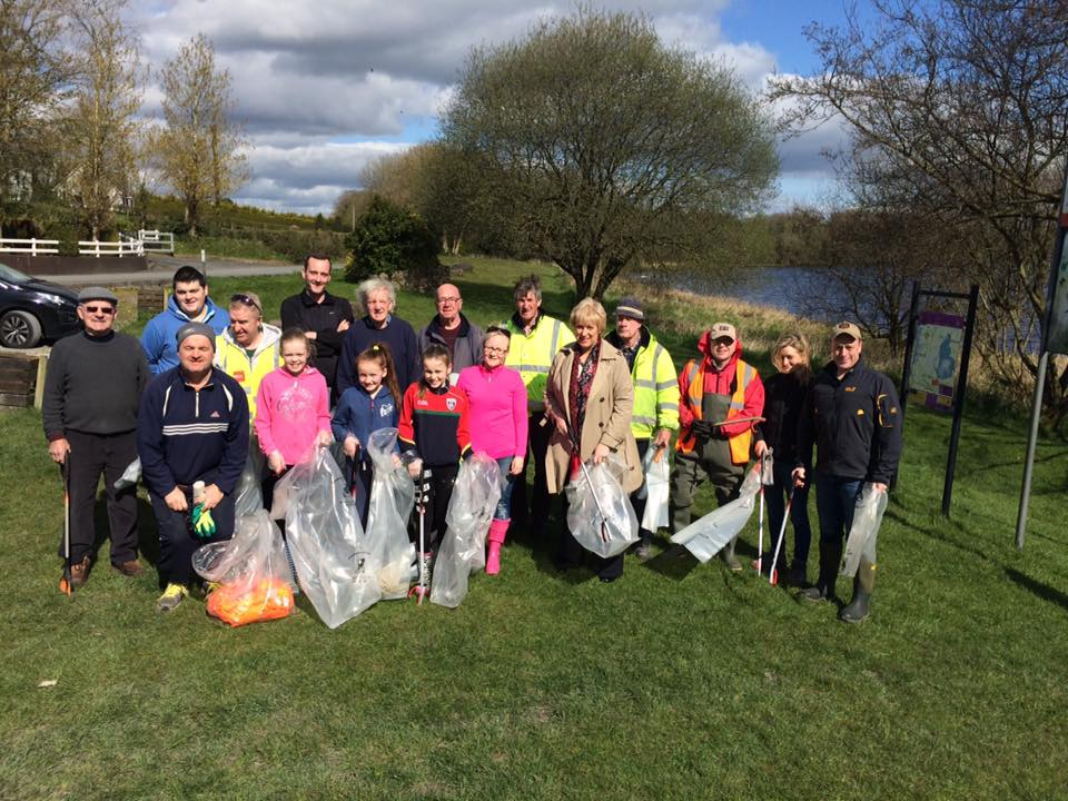 Lake clean up by local community volunteers.