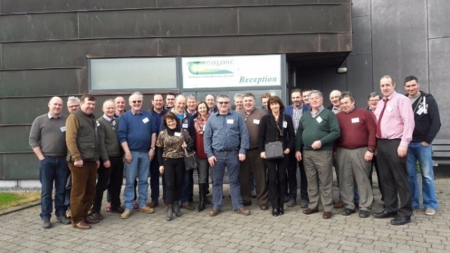 FIGURE 5: IFA NATIONAL ENVIRONMENT COMMITTEE ON WATER MINI-CATCHMENTS STUDY TRIP AND PLANNING MEETING IN TEAGASC JOHNSTOWN CASTLE.