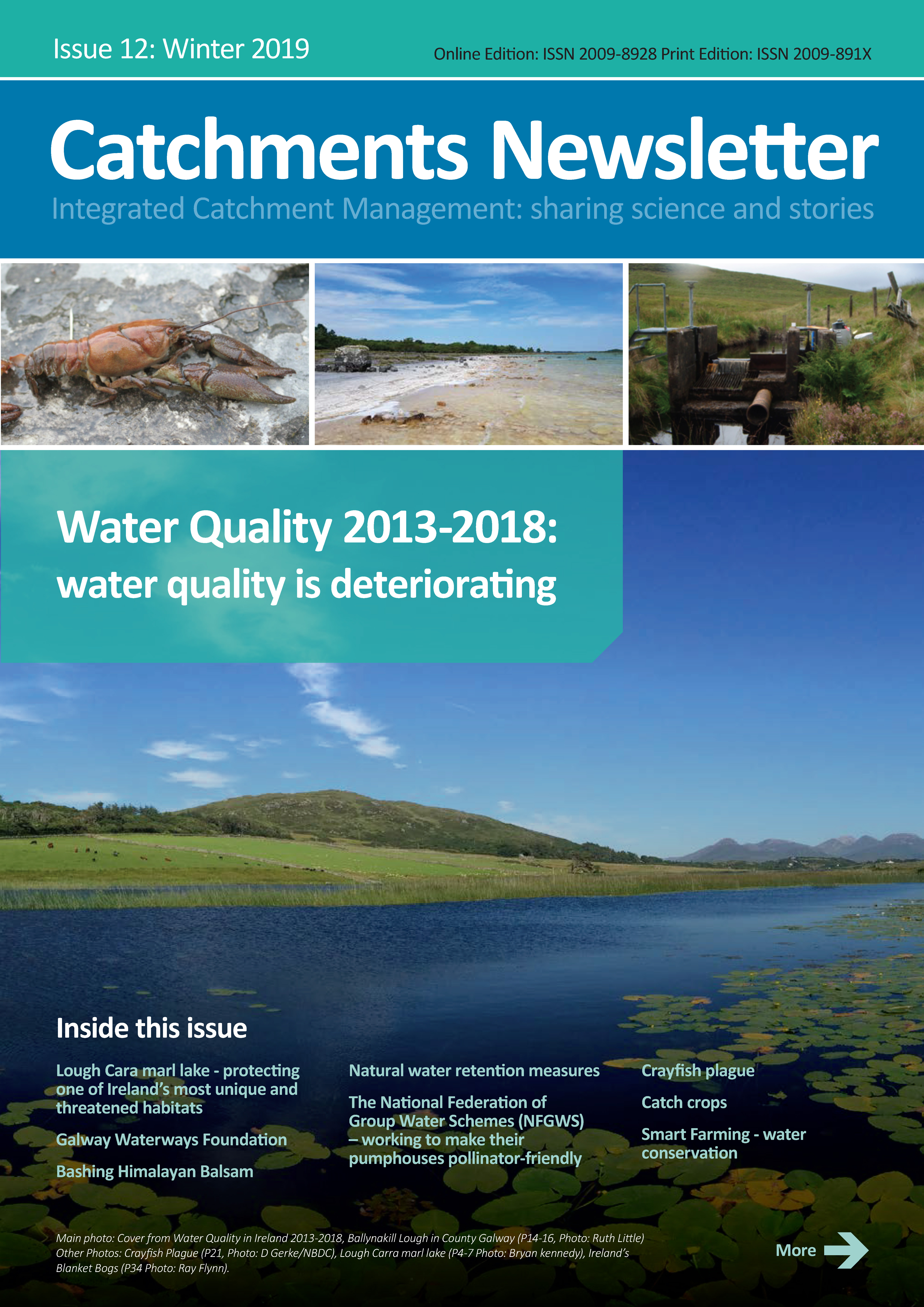 Catchments Newsletter - sharing science and stories. Winter 2019.