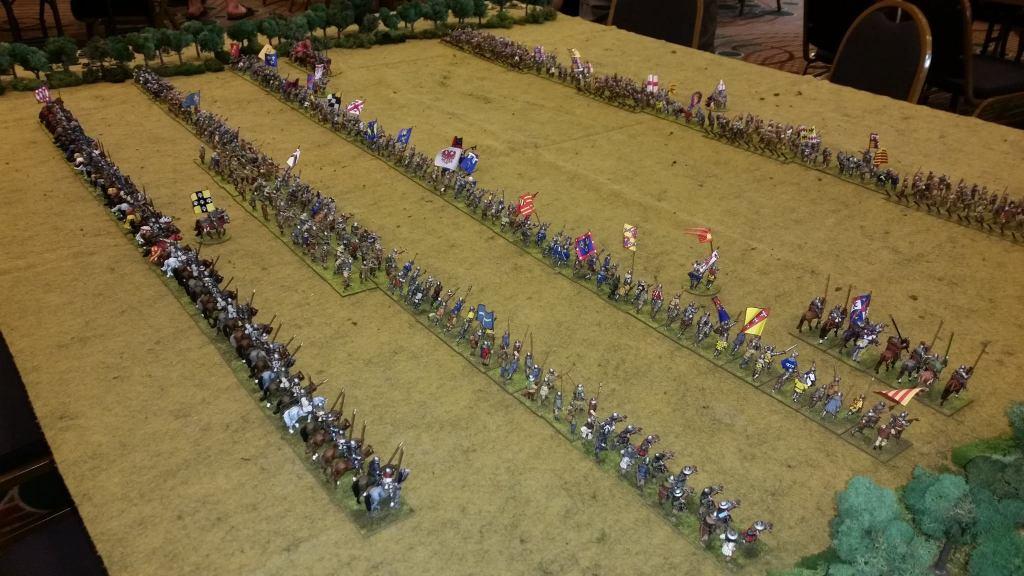 Chris Craft's Agincourt game using Hail Caesar