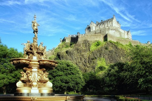Edinburgh Castle from Princess Street Gardens