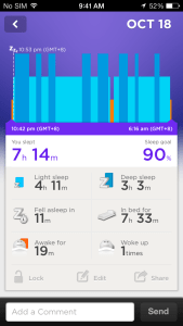 Sleep Tracking on the Jawbone UP iOS App
