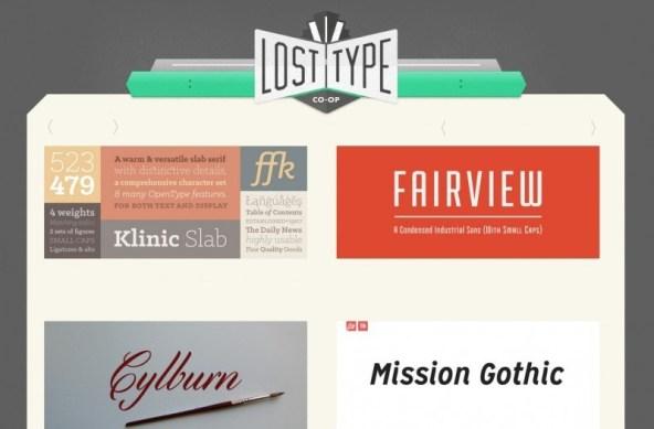Página web Lost Type