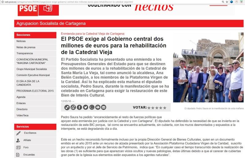 Fuente imagen: Agrupación Socialista Cartagena