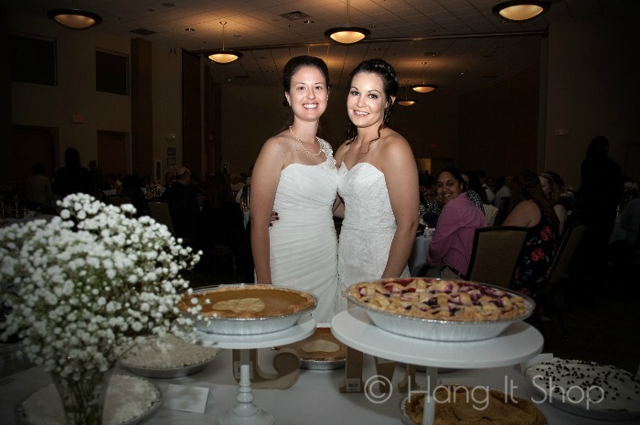 Wedding pie display