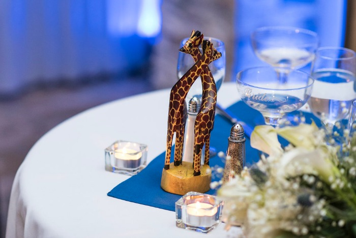 zoo wedding decor