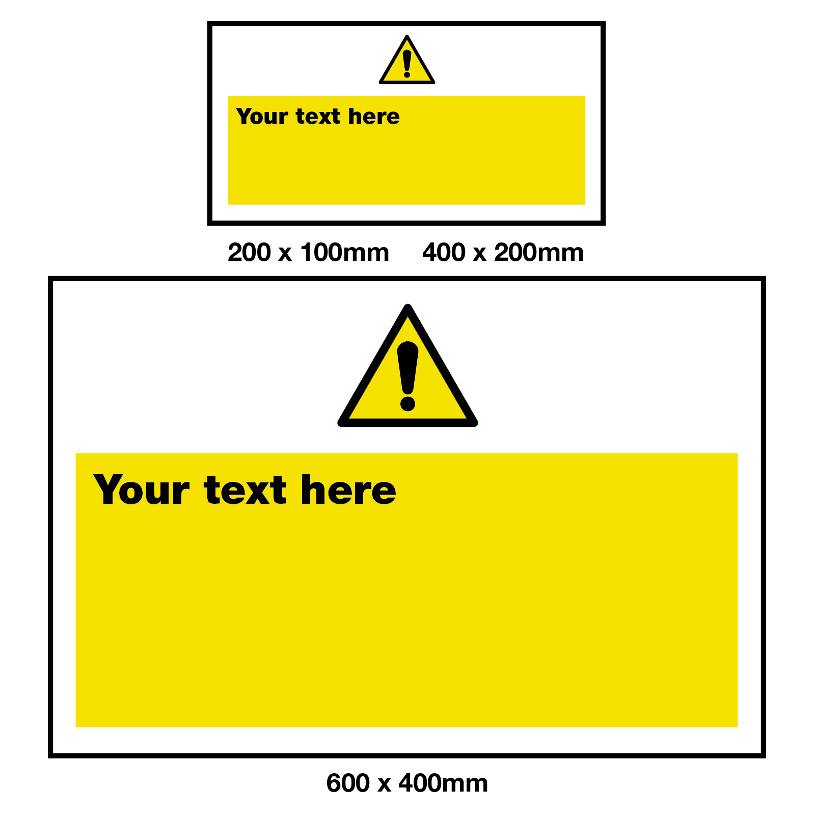 Create Your Own Warning Safety Sign