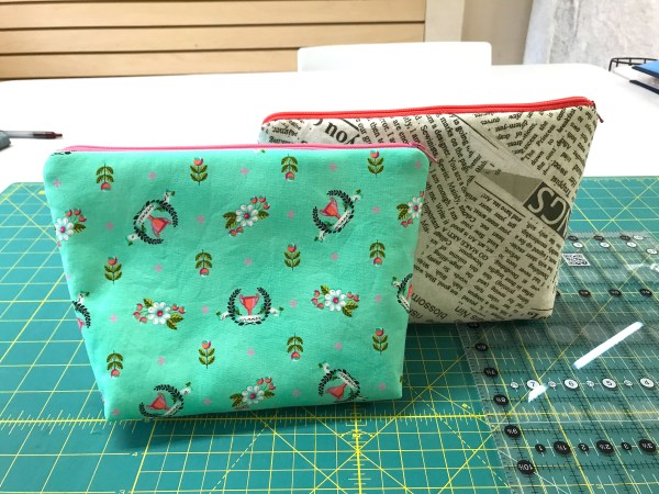 Learn to Sew Cosmetic Bags Class