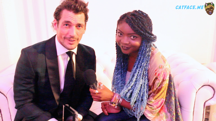 David Gandy at the Scottish Fashion Awards 2014