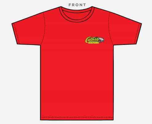 Catfish Edge Shirt Red Front