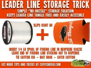 Simple Leader Line Storage For Fishing Leader