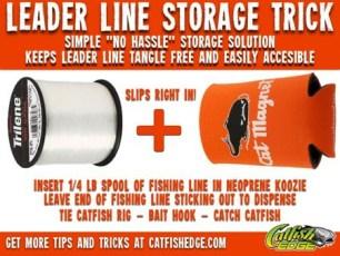 Leader Line Storage Trick