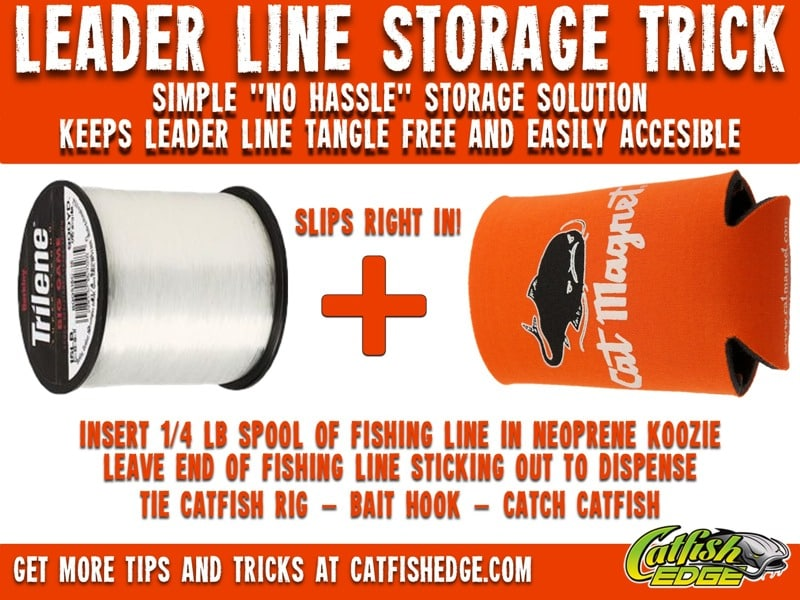Leader Line Storage Trick Catfish Rigs