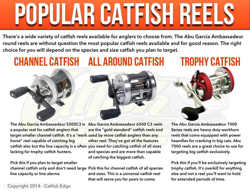 Popular Catfish Reels