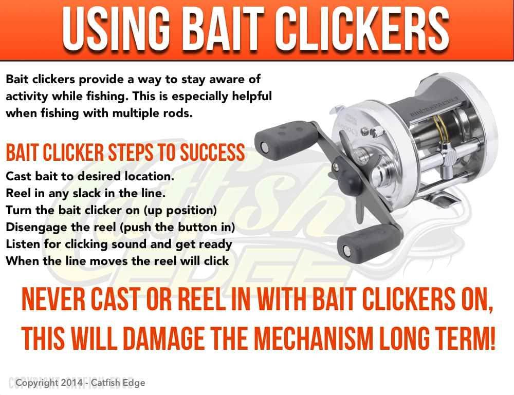 how to use a bait clicker (line alarm)