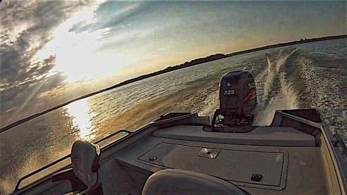SeaArk ProCat 240 Back Outboard Break In