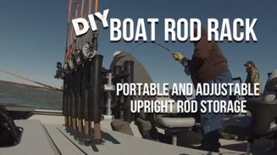 DIY Vertical Fishing Rod Rack 450