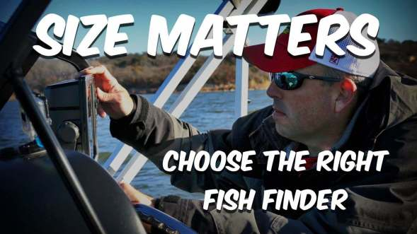 Fish Finder Screen Size
