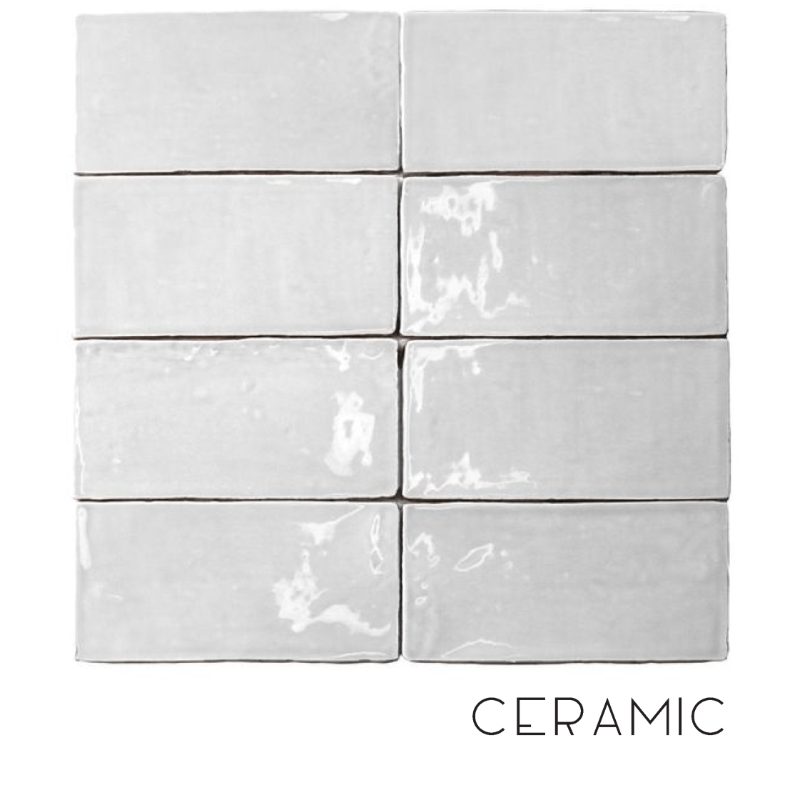 When to use ceramic tiles in a bathroom.