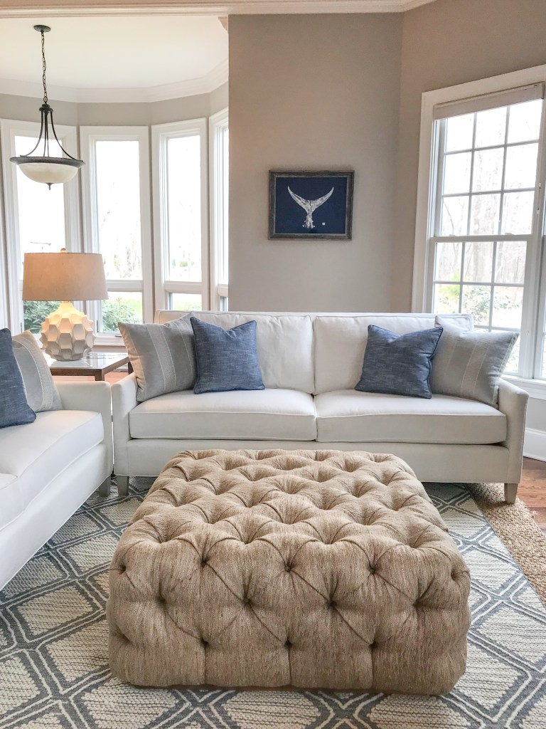 Color accent pillows - Catherine French Design Chapel Hill