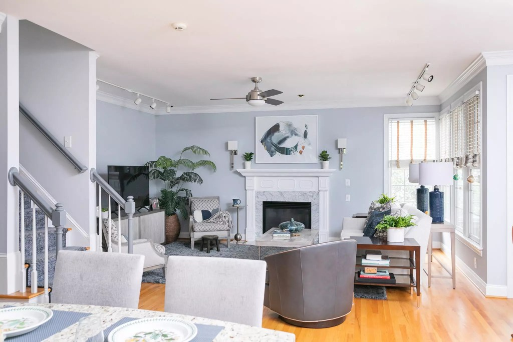 Updated Southern Village Living Room - Cat French Design