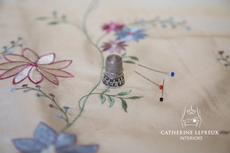 Antique silver thimble used when hand sewing