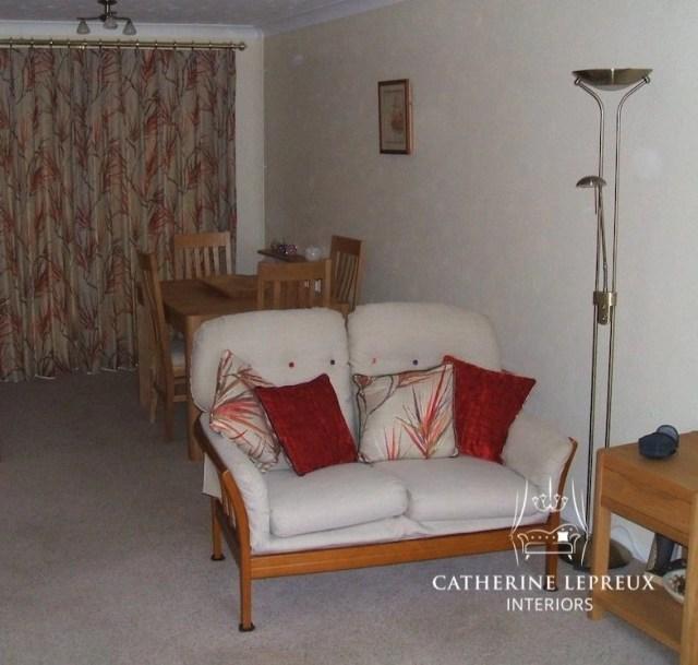 interior design ruby red velvet and linen scatter cushions