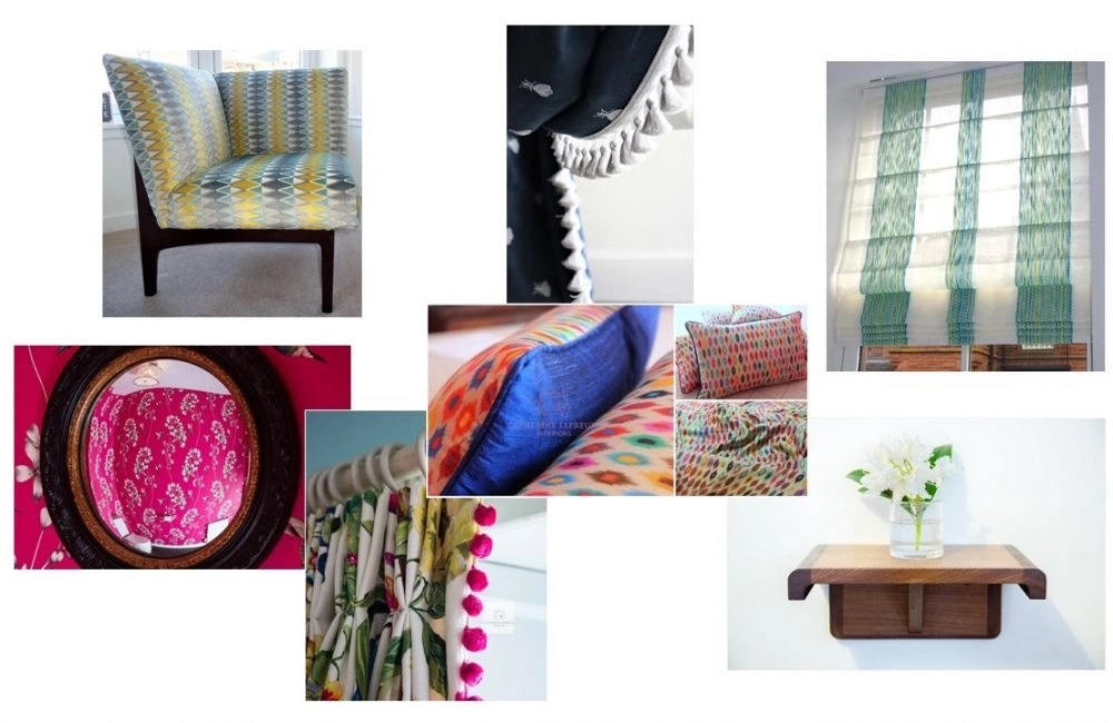 Seasonal colours for interior design, window treatments and soft furnishings