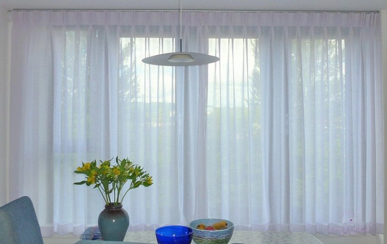 curtain maker voile sill length curtains Edinburgh