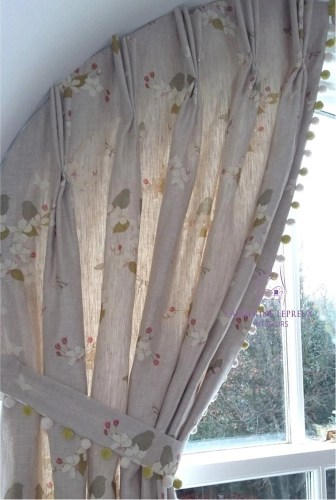 curtains arched unusual windows bespoke shaped heading Fife