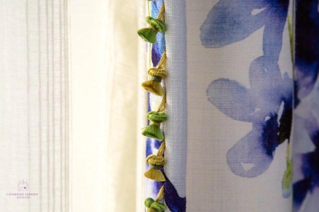 Curtainmaker Edinburgh handmade curtains Bluebellgray linen leading edge trimmings