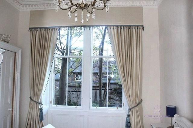 Curtain maker Edinburgh hand made curtains traditional bedroom