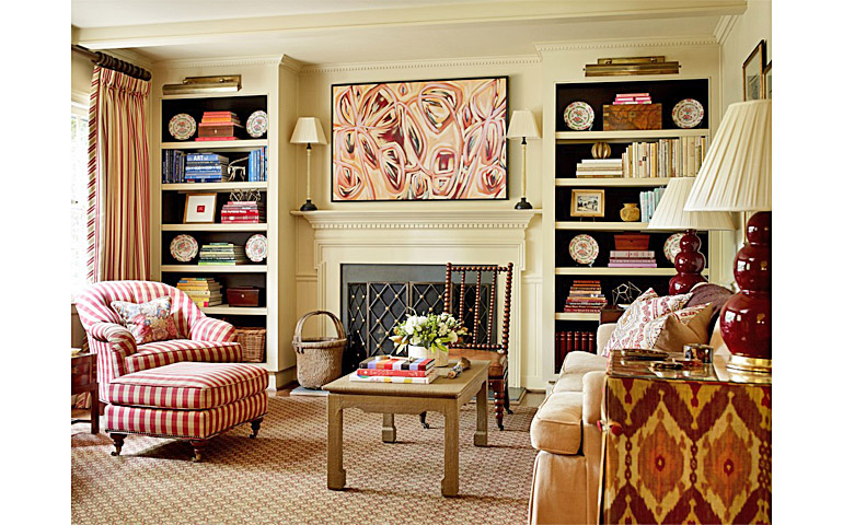 Catherine M. Austin Interior Design/ Stanwyck Family Room/ Amanda Talley Artist