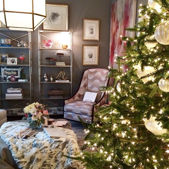 The room felt like a cashmere cocoon where the lady of the house could  escape the madness of the holiday season. The pink, cream and gray palette  was ...