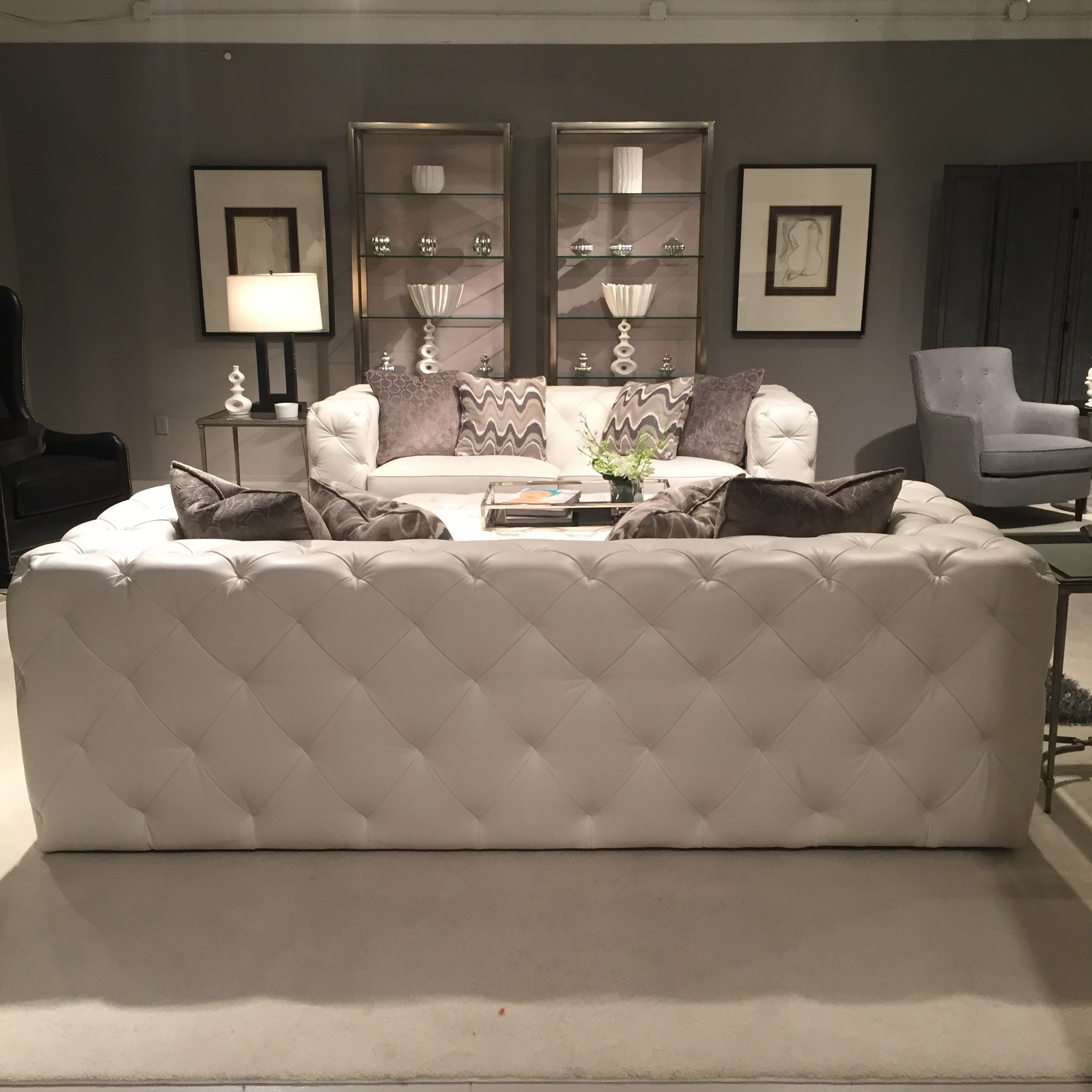 modern glamour with bernhardt furniture