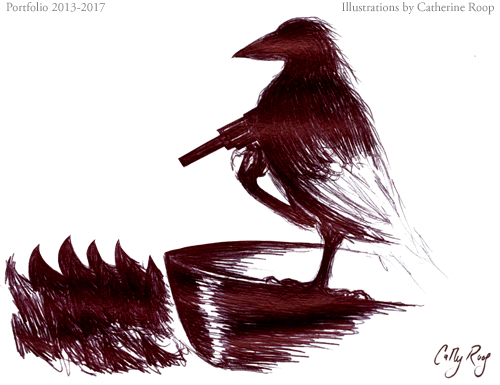 Crow with Revolver