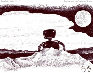 Robot and Moon