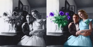 Photoshop class assignment - colorizing a photo.