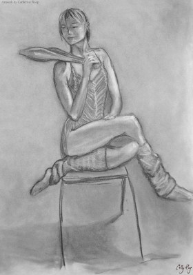 Life drawing class project - costume.