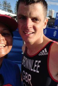 My selfie with gold medallist, Jonathan Brownlee