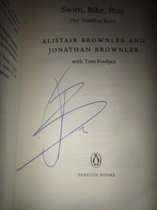 Jonathan Brownlee signed my copy of his book :-)