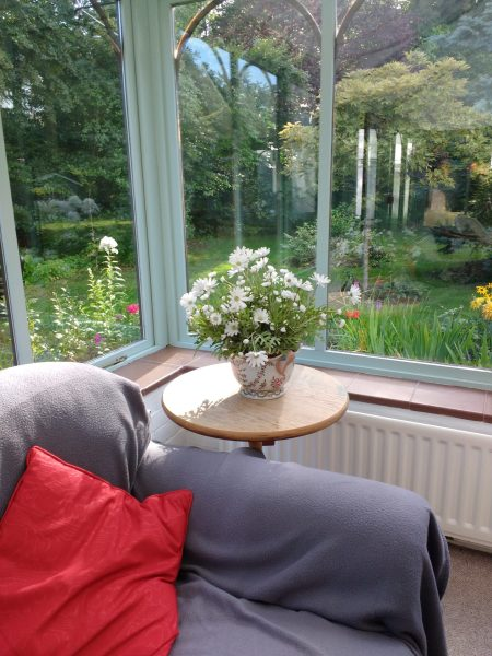 From one of the communal living areas at the retreat centre