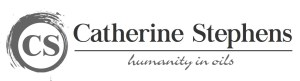 Catherine Stephens: Humanity in Oils , Logo for Catherine Stephens providing original oil paintings. Contemporary. Representational.